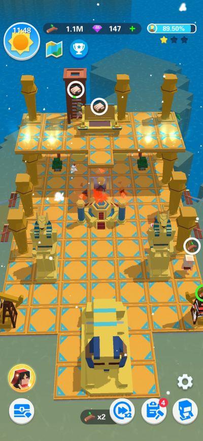 idle arks pyramid ship