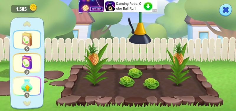 how to grow food in my talking tom friends