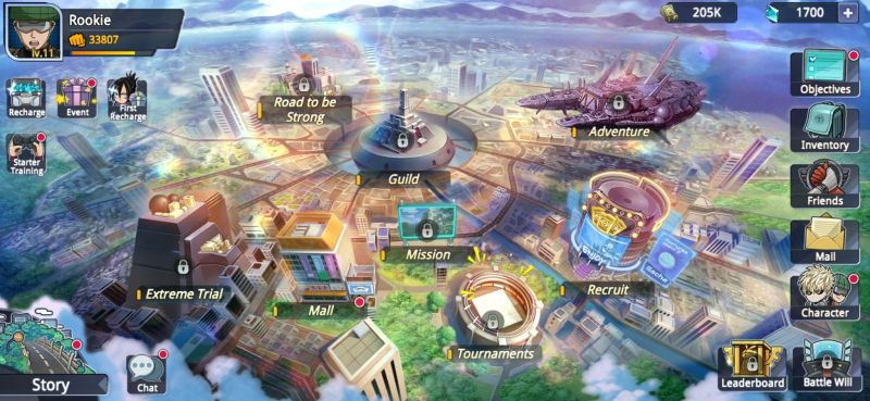 one punch man road to hero 2.0 city map