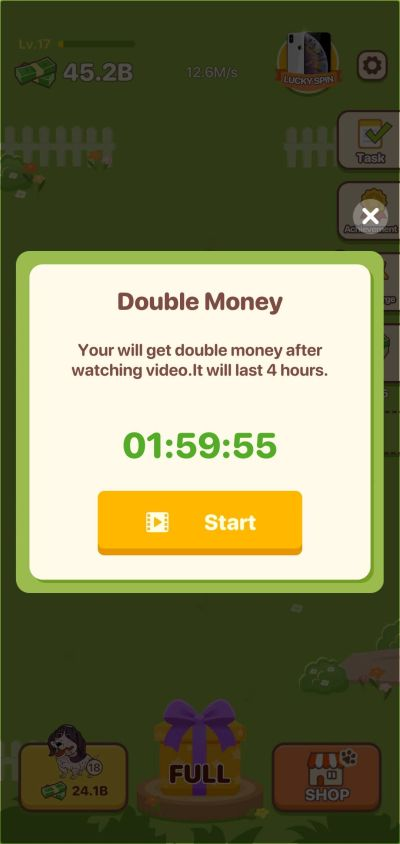 puppy town double money power-up