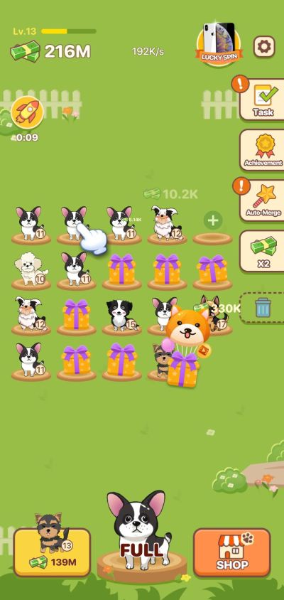 how to get flying gifts in puppy town