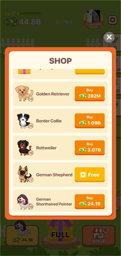 how to spend money in puppy town