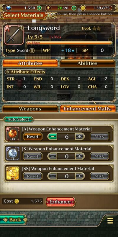 how to evolve hero's gear in romancing saga re;universe