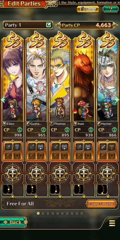 how to build a powerful team in romancing saga re;universe