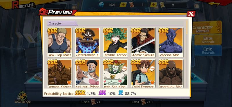 ssr elite one punch man the strongest