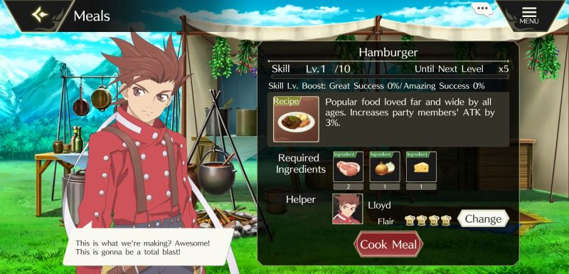 how to unlock more recipes in tales of crestoria
