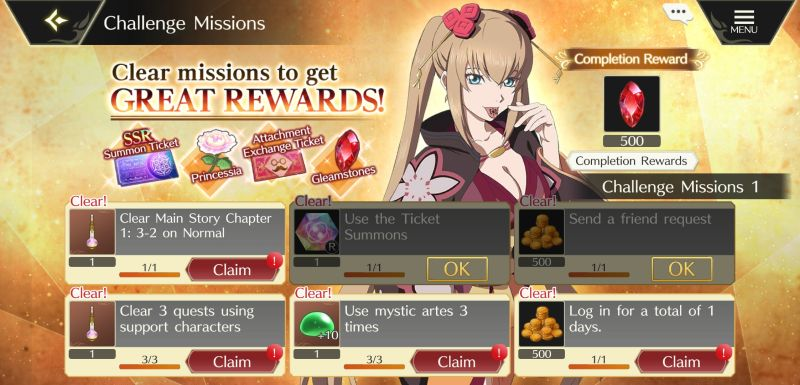 how to earn more rewards in tales of crestoria