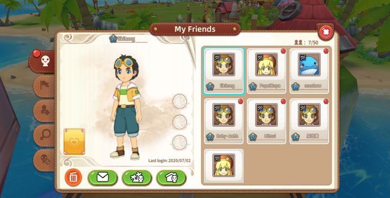 how to add friends in tour of neverland