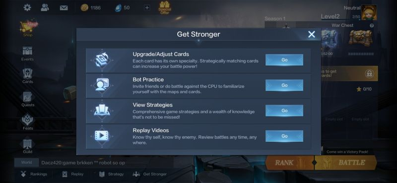 how to get stronger in warbound storm