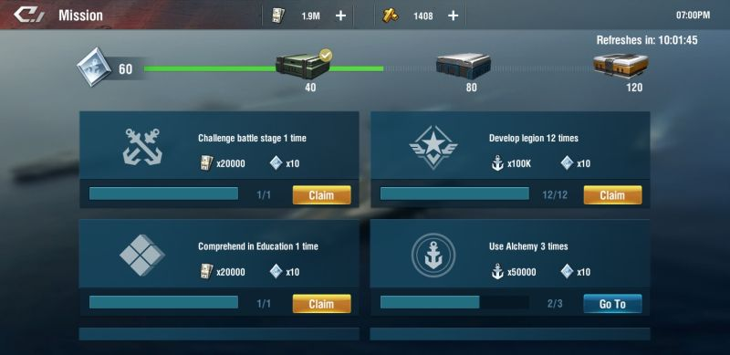 how to earn more rewards in warship legend