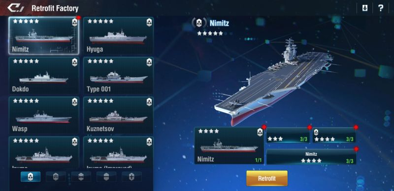 how to upgrade ships in warship legend
