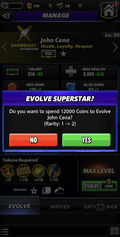 how to evolve wrestlers in wwe champions 2020