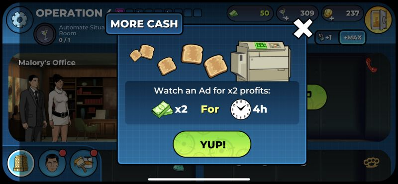 how to boost profits in archer danger phone