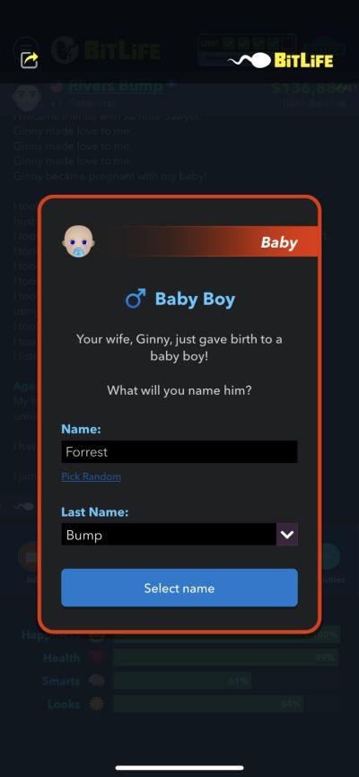 bitlife baby boy