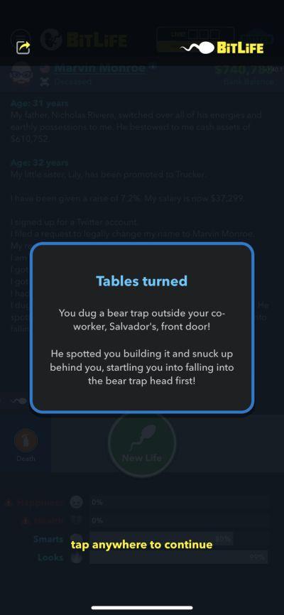 bitlife bear trap