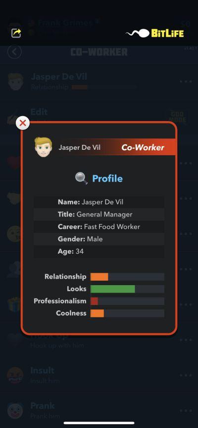 bitlife co-worker profile