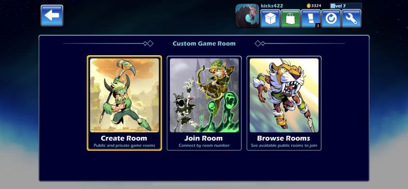 brawlhalla custom game room