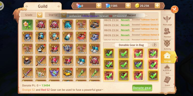 how to join a guild in gaia odyssey