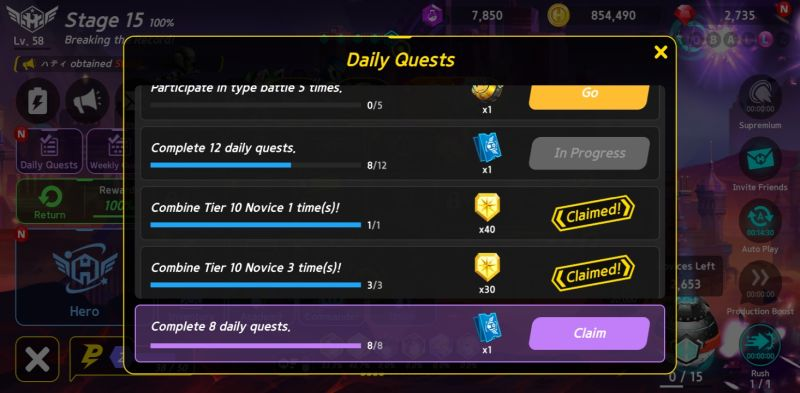 how to earn more rewards in hero ball z