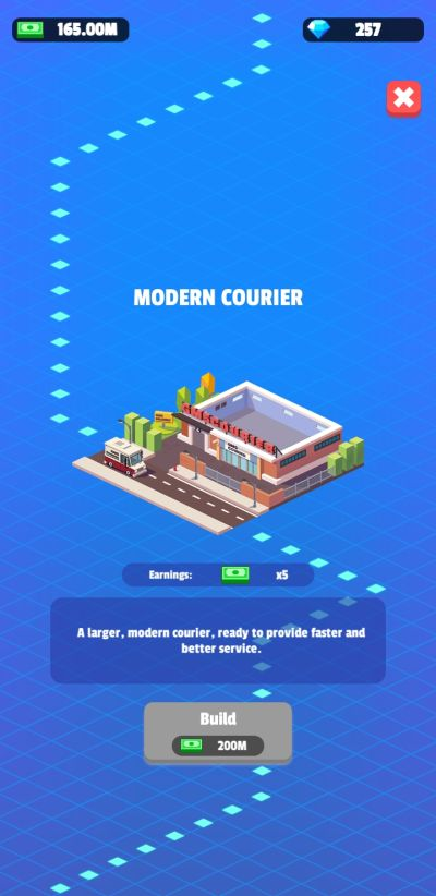 idle courier tycoon facilities