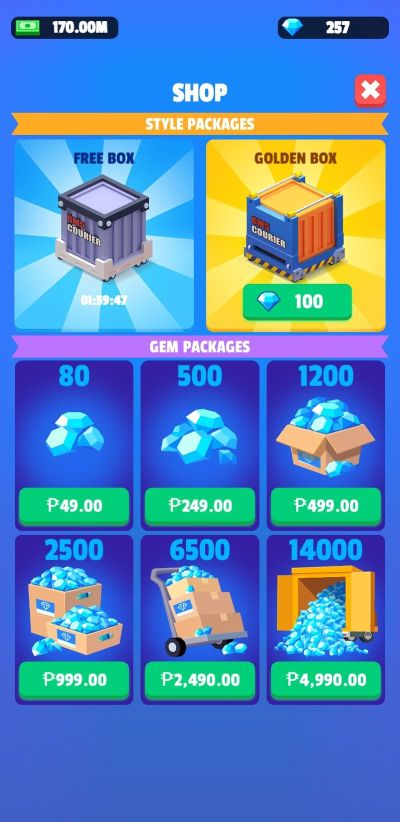 how to get more golden boxes in idle courier tycoon