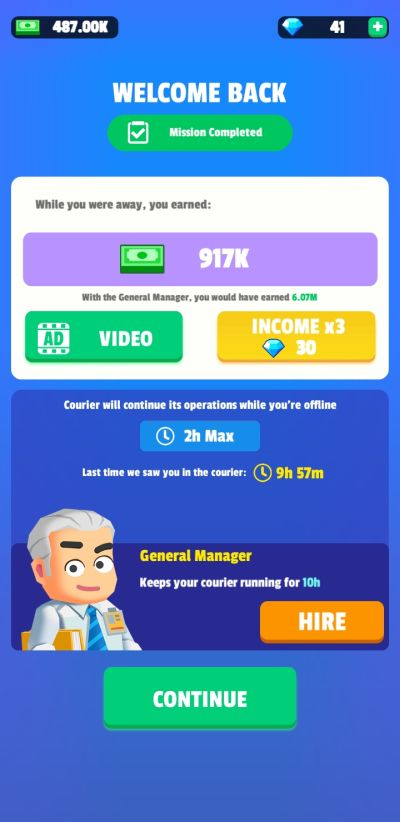 best investment strategy in idle courier tycoon