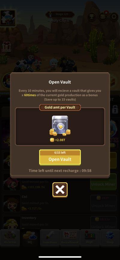 idle guardians vault