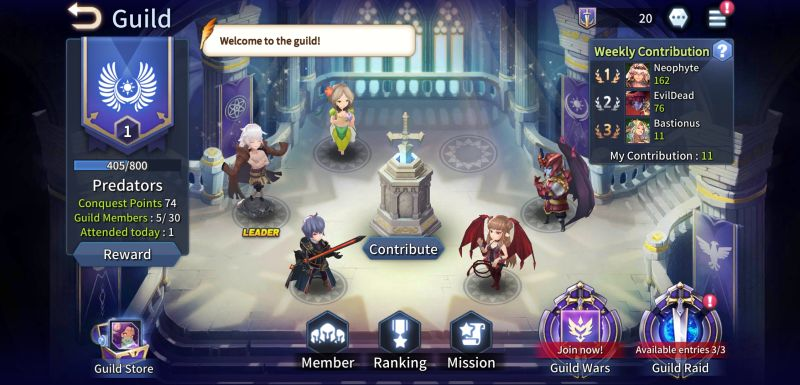 how to join a guild in kingdom of heroes tactics war