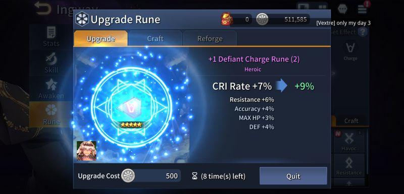 how to upgrade heroes and runes in kingdom of heroes tactics war