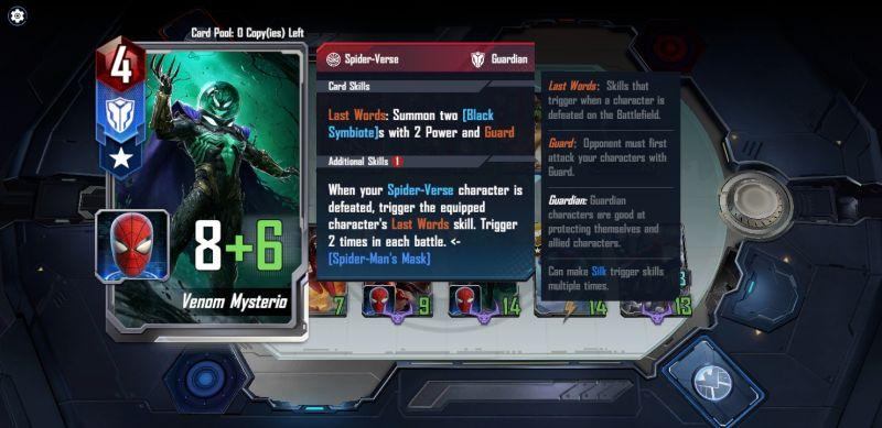 marvel duel card attributes