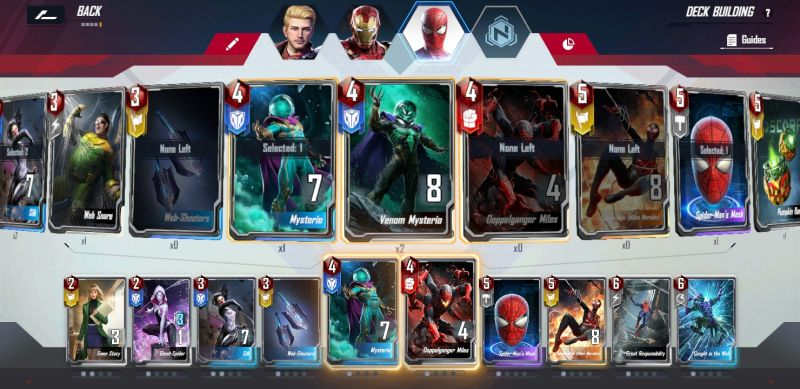 how to customize decks in marvel duel