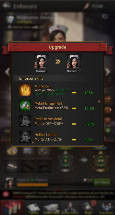 how to upgrade enforcers in the grand mafia