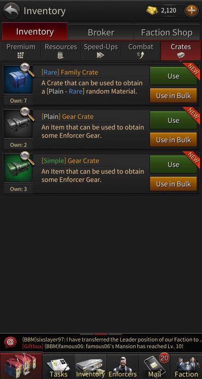 the grand mafia inventory