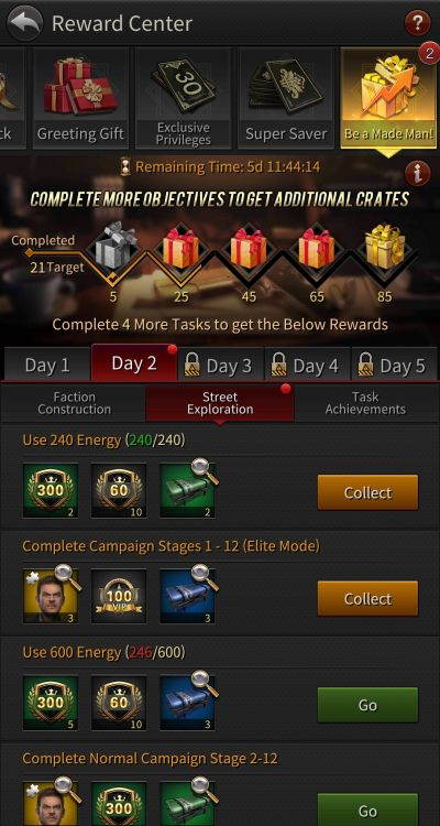 how to earn more rewards in the grand mafia