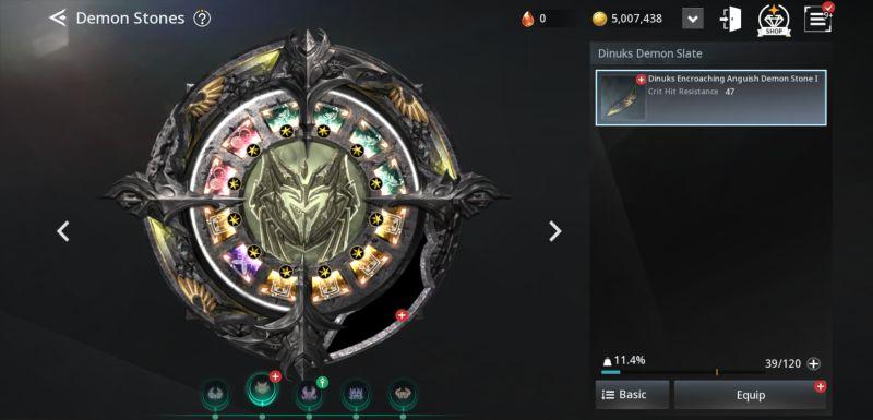 v4 demon stones