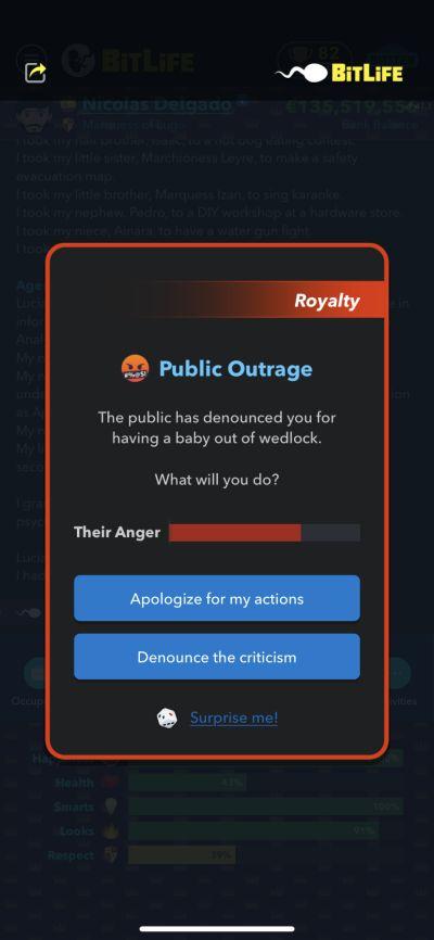 общественное возмущение в битлайф