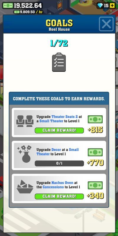 box office tycoon goals