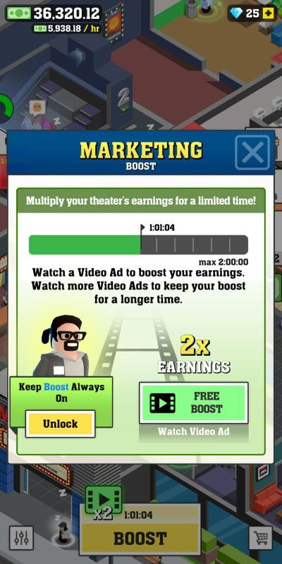 how to increase profits in box office tycoon
