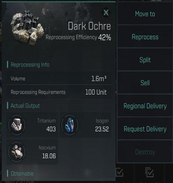 Eve перекликается с эффективностью переработки темной охры