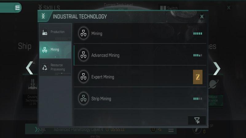 Eve перекликается с навыками промышленного горного дела
