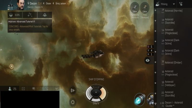 eve echoes mining tricks