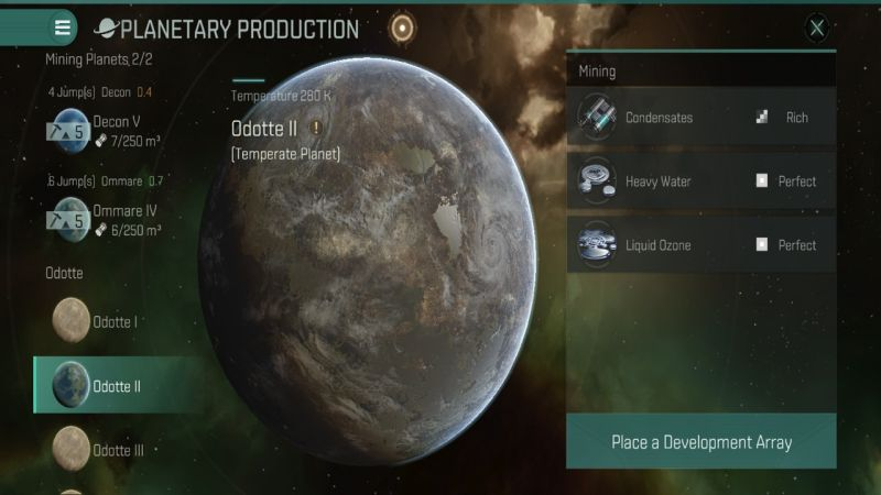 eve echoes planetary production