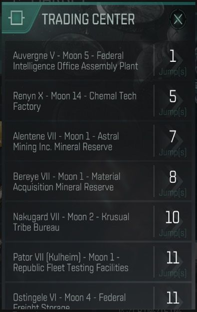 eve echoes trading center