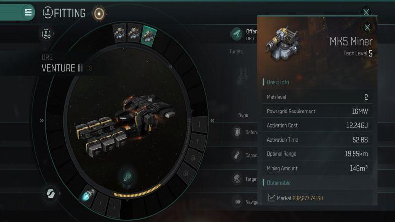 Eve Echoes Venture III примерка MK5