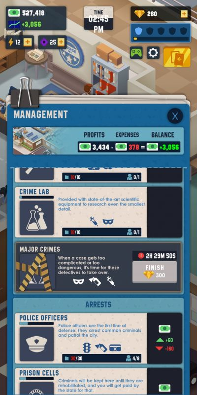 idle police tycoon investment strategy