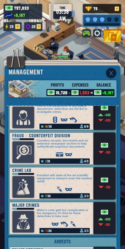 idle police tycoon management