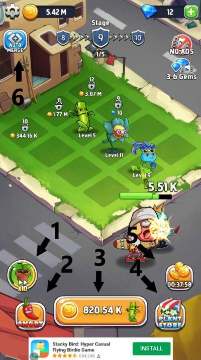 merge plants gameplay