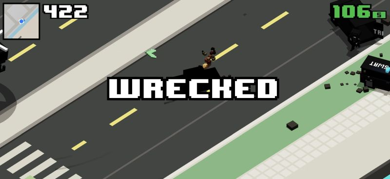 smashy road wanted 2 wrecked