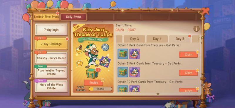 tom & jerry chase daily bonuses