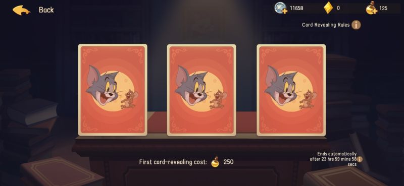 how to acquire perk cards in tom & jerry chase